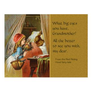 Red Riding Hood CC0204  Fairy Tale Postcard