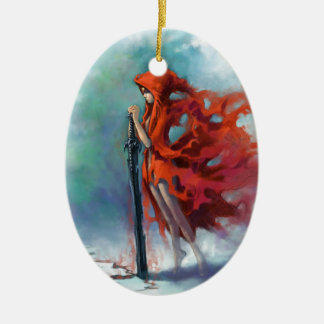 Red Riding Hood Ceramic Oval Decoration