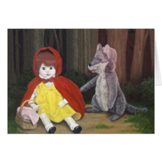 """Red Riding Hood Dolls"" card by Nathan James"