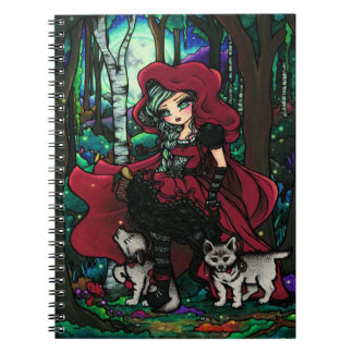 Red Riding Hood Girl Fairy Fantasy Notebook