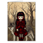 """""""Red Riding Hood in Autumn"""" Greeting Card"""