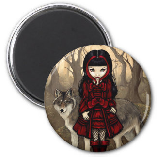 """Red Riding Hood in Autumn"" Magnet"