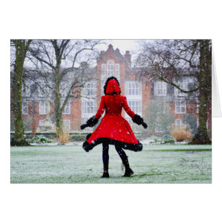 Red Riding Hood in Snow - Card