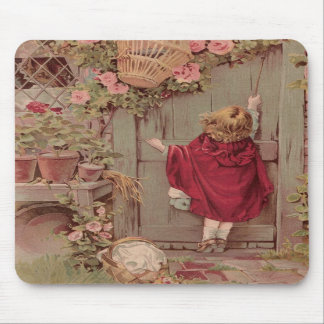 Red Riding Hood Knocks on the Door Mouse Pads