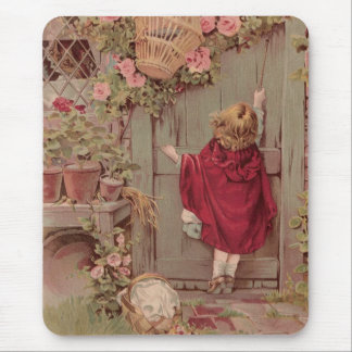 Red Riding Hood Knocks on the Door Mouse Pad