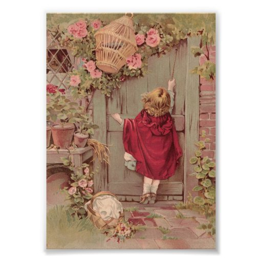 Red Riding Hood Knocks on the Door Photographic Print
