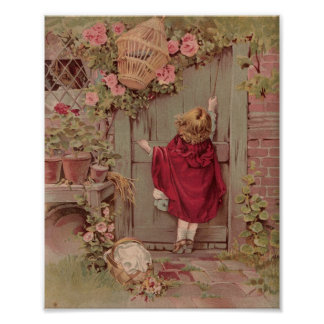 Red Riding Hood Knocks on the Door Posters