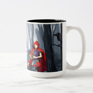 Red Riding Hood Two-Tone Coffee Mug