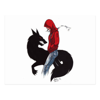 Red Riding Hoody Postcard