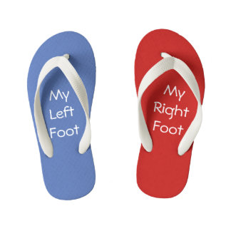 Red Right - Left Blue Kid's Thongs