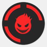 Red Ring of Death Round Sticker