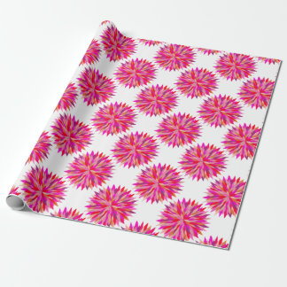 Red Riot mandala gift wrapping Wrapping Paper
