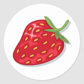 Red ripe strawberry stickers
