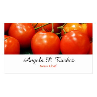 Red Ripe Tomatoes Business Cards