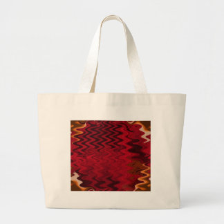 red ripple canvas bag