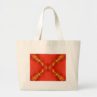 red ripple tote bags