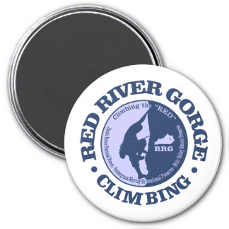 Red River Gorge (Climbing) 7.5 Cm Round Magnet
