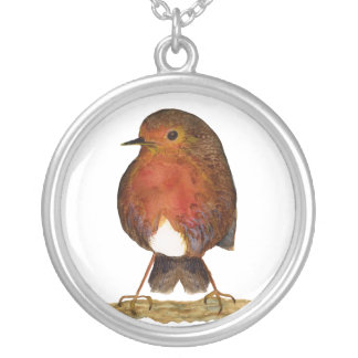 Red Robin Bird Watercolour Pendant