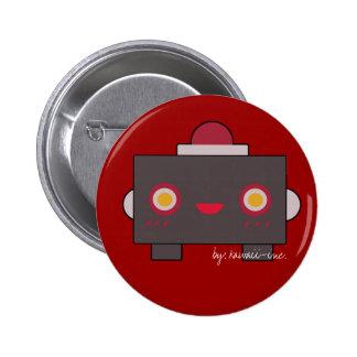 Red Robot 6 Cm Round Badge