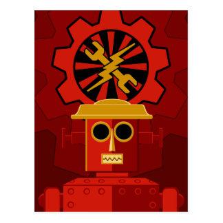 Red Robot Postcard