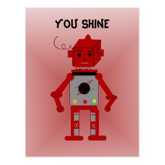 Red Robot - You Shine Postcard