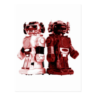 red robots postcard