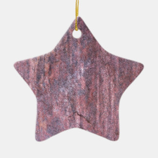Red Rock affected by weather and water over time Ceramic Star Decoration