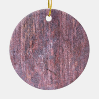 Red Rock affected by weather and water over time Christmas Tree Ornament