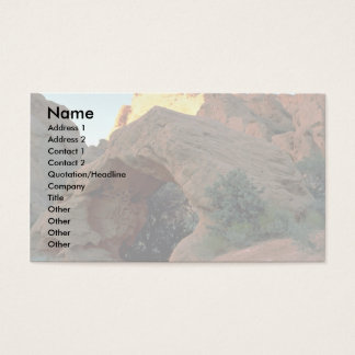 Red rock arch just north of Hurricane, Utah Business Card