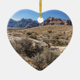 Red Rock Canyon & Dry Riverbed Ceramic Ornament