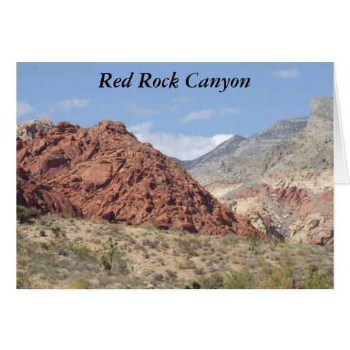 Red Rock Canyon, Mojave Desert, Near Las Vegas Card
