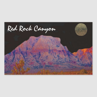 Red Rock Canyon Rectangular Sticker