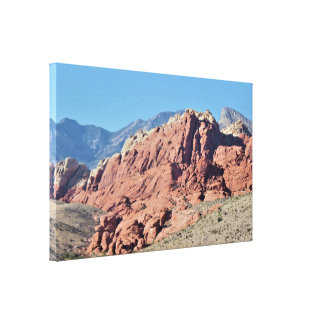 Red Rock Canyon Rock Formation Canvas Print