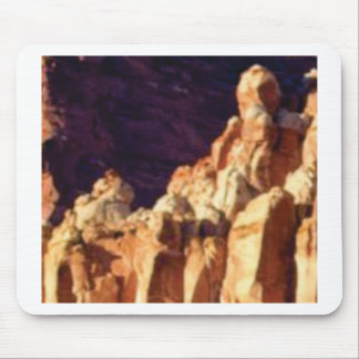 red rock formations in stone mouse pad