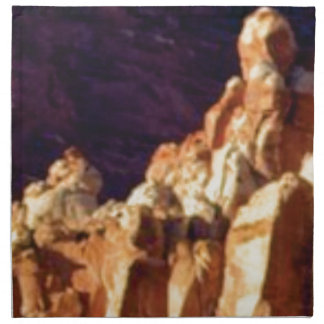 red rock formations in stone napkin