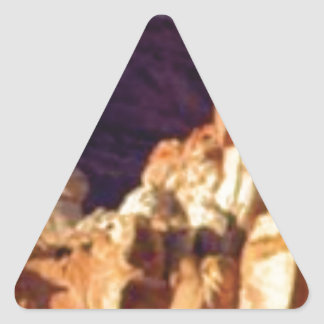 red rock formations in stone triangle sticker