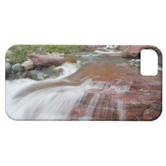 Red rock in Baring Creek in Glacier National iPhone 5 Covers