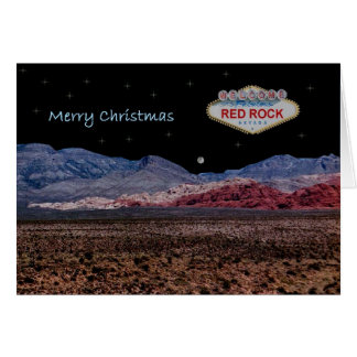 Red Rock Nighttime Merry Christmas Card