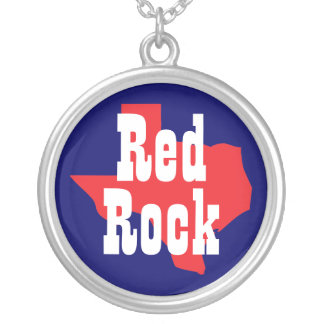 Red Rock Texas Round Pendant Necklace