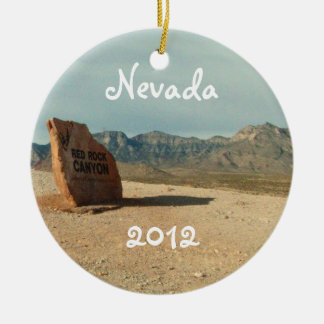 Red Rock Welcome; Nevada Souvenir Ceramic Ornament