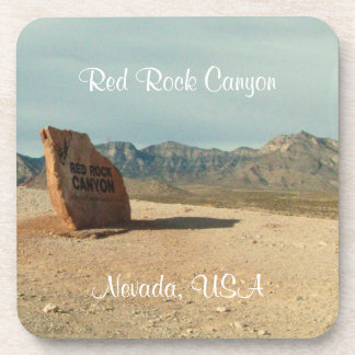 Red Rock Welcome; Nevada Souvenir Coaster