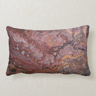 Red Rock With Texture Lumbar Pillow