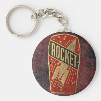 RED ROCKET. BASIC ROUND BUTTON KEY RING