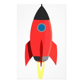 Red Rocket Blast Off Stationery