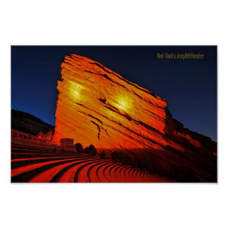Red Rocks amphitheater Poster