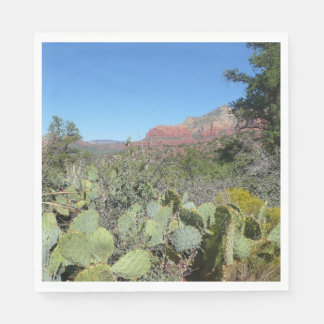 Red Rocks and Cacti I Disposable Serviette