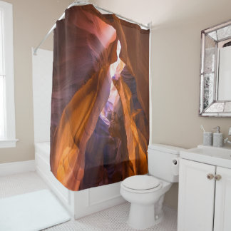 Red Rocks Cave Shower Curtain