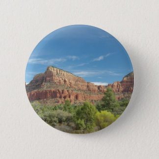 Red rocks in Sedona 6 Cm Round Badge