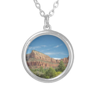 Red rocks in Ssedona Silver Plated Necklace