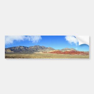 Red Rocks Nevada Panoramic Bumper Sticker